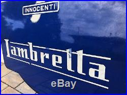Original LAMBRETTA Enamel Sign Porcelain Service Vintage VESPA 1950s Double Side