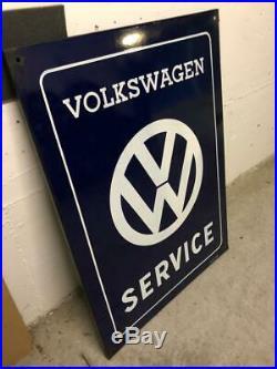 Original VW Enamel Sign Porcelain Service Vintage 1960s Volkswagen Dealership