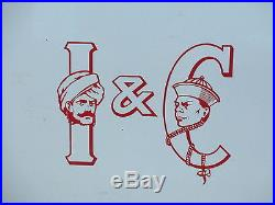 Original Vintage 1920s HEAVY ENAMEL INDIA & CHINA TEA COMPANY SIGN