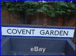 Original Vintage Iconic Classic COVENT GARDEN Tube Station Enamel Metal Sign