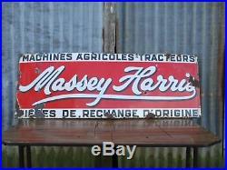 Original Vintage Massey Harris Ferguson Tractor Dealer/Shop Large Enamel Sign