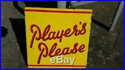 Original Vintage'players Please' Enamel Sign