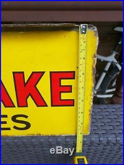 Original Wills Gold Flake Enamel Cigarette Sign Vintage