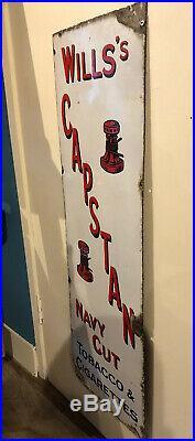 Original Wills's Large Enamel Capstan Navy Cut Tobacco/Cigarettes Sign Vintage