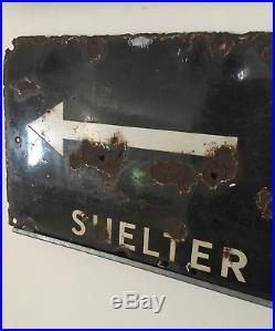 Original vintage enamel sign Air Raid Shelter WW2 air raid 100% Original