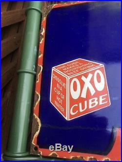 Oxo Enamel Sign Vintage