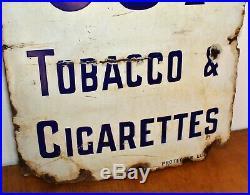 Players Navy Cut shop display enamel sign advertising garage mancave vintage ret