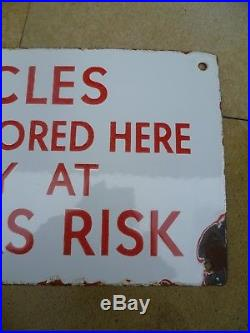RARE OLD BICYCLE ENAMEL SIGN. PRICED TO SELL. Vintage Cycle Bike Shed Man Cave