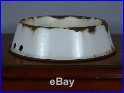 Rare Early Antique Vintage RSPCA Enamel Advertising Dog Bowl Sign