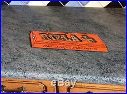 Rare Original Enamel Rizla Shop Advertising Vintage Tobacco Sign
