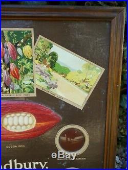 Rare Original Vintage 1920s-30s Cadbury's Chocolates Sign Not Enamel
