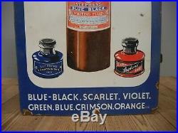 Rare Original Vintage Pictorial Stephen's Inks Enamel Advertising Sign