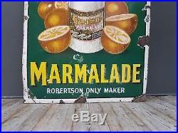 Rare Vintage Antique Vintage Robertson's Marmalade Enamel Advertising Sign