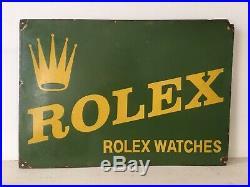 Rolex Watches Porcelain Enamel Sign Vintage Classic 20 x 14 Great Condition