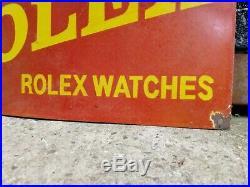 Rolex enamel sign Rolex sign Rolex watch vintage Rolex shop sign Rolex porcelain