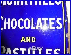 Rowntrees Chocolate pastilles sign circa 1910 vintage 30x 20 enamel porcelain