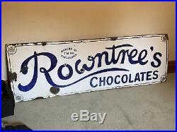 Rowntrees Chocolates Vintage Original Enamel Sign