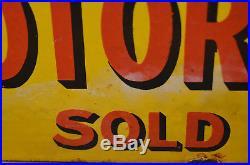 Shell Motor Spirit 1930s advertising enamel sign garage petrol vintage retro ant