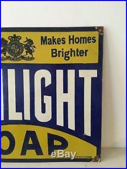 Sunlight Soap Porcelain Enamel Sign Vintage Classic Great Condition