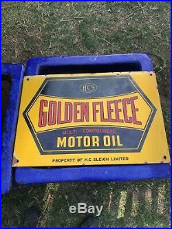 Super Rare Vintage Golden Fleece Enamel Sign
