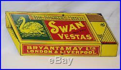 Swan Vestas Vintage Enamel Metal Sign Dodo Designs England
