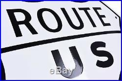 US ROUTE 66 vintage enamel HIGHWAY STREET ROAD SIGN 20x21