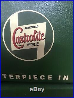 VINTAGE CASTROL OIL CABINET CLASSIC CAR GARAGE AUTOMOBILIA RARE SIGN not enamel
