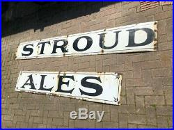 Very Rare Stroud Ales enamel sign beer sign Huge Vintage 9ft long breweriana
