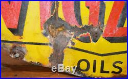 Vigzol oil 1920s advertising enamel sign garage petrol vintage retro antique ind