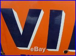 Vintage Antique Enamel Virol Advertisiy Sign