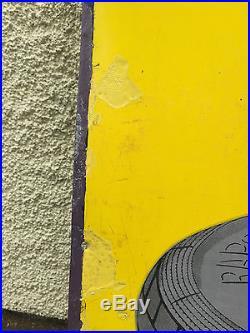 Vintage Automobilia North British Rapson Tyres Enamel Sign #575