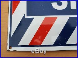 Vintage Barber Shop Metal Enamel Sign