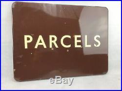 Vintage British Railways, Great Western Enamel Sign. PARCELS