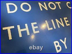 Vintage British Railways Scottish Region Framed Enamel Station Sign Original BR