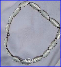 Vintage David Andersen Norway Signed Sterling Enamel Necklace Bracelet Set