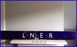 Vintage Enamel London And North Eastern Railway Sign LNER British 20s 30s 40s
