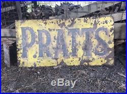 Vintage Enamel PRATTS Sign