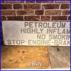 Vintage Enamel Petroleum Alloy Sign #2410