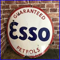 Vintage Enamel Sign Automobilia Esso #3413
