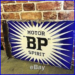 Vintage Enamel Sign Bp Motor Spirit 1920's Enamel Sign #1511