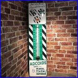 Vintage Enamel Sign Duckhams Thermometer #3459