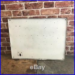 Vintage Enamel Sign Duckhams Thermometer Garage Sign #2821
