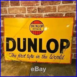 Vintage Enamel Sign Dunlop #4066