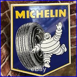 Vintage Enamel Sign Michelin 1965 #3583