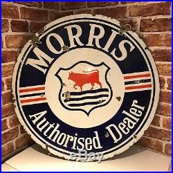 Vintage Enamel Sign Morris- #2913