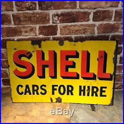 Vintage Enamel Sign Shell #2275