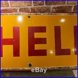 Vintage Enamel Sign Shell Enamel Sign #3882