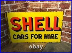 Vintage Enamel Sign Shell Sign Automobilia #3752