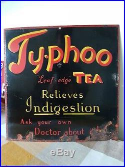 Vintage Enamel Sign Ty-phoo Tea