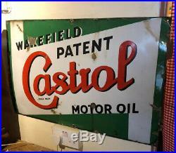 Vintage Enamel Sign Wakefield Castrol Motor Oil